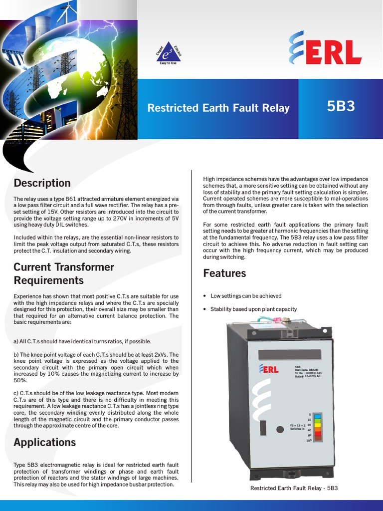 5b3 Fact Sheet Newpdf Transformer Relay Abb Current Balance
