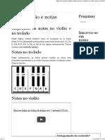 Notas Violão e Notas Teclado