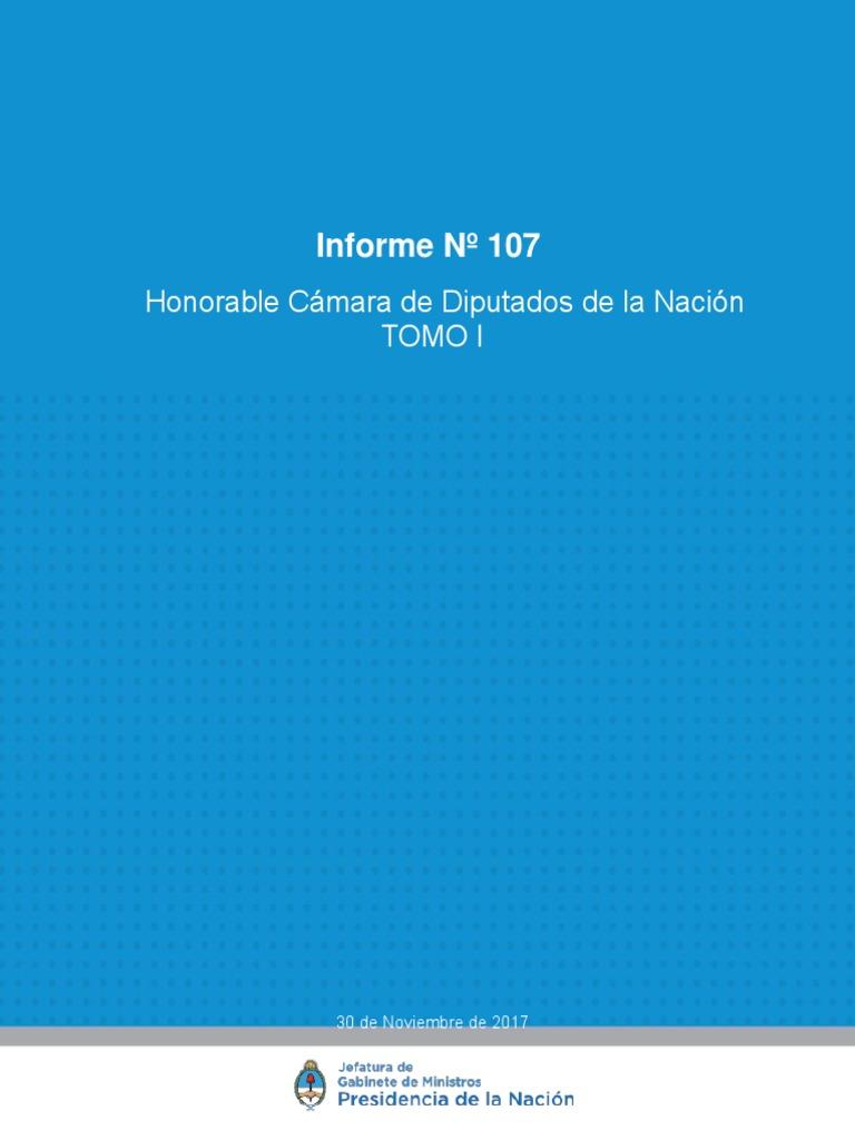 Informe 107 -Hcdn-Tomo I