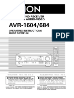 AVR-1604 684 Ownersmanual