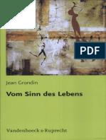 Jean Grondin-Vom Sinn Des Lebens