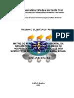 Matriz de Avaliação Socioambiental da Arquitetura de Meios de Hospedagem em Áreas Protegidas