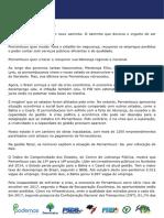 Manifesto do ato político Pernambuco quer Mudar