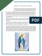 08 de Diciembre Inmaculada Concepción