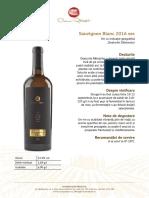 Fisa Tehnica Sauvignon Blanc Sec 2016