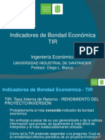 Indicadores de Bondad Económica - TIR