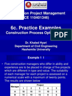 6c. Practice Examples- Construction Process Optimization