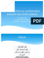 Kelas Tajwid Al-quran Bagi Jemaah Haji Dan Umrah