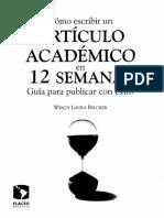 Como Escribir Un Articulo Academico en 12 Semanas, Belcher