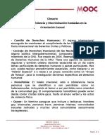 Glosario Lecci n 25 Violencia y Discriminaci n Fundadas en La Orientaci n Sexual