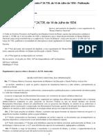 Decreto n° 24.735 de 14 de julho de 1934 TEXTO ORIGINAL