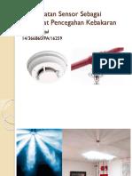 Pemanfaatan Sensor Sebagai Perangkat Pencegahan Kebakaran
