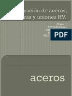 Normalización de Aceros, Soldaduras y Uniones HV