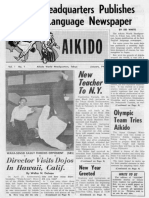 Aikikai Newspaper Issue 1, 1964