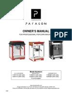 Popcorn Machine Manual