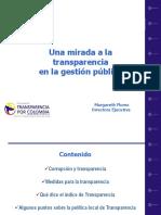Una Mirada a La Transparencia en La Gestion Publica
