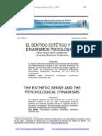 El Sentido Estetico y Los Dinamismos Psicologicos