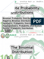 Mean and Variance for Discrete Prob Distributions