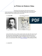 Top 10 Famous Writers in Modern China