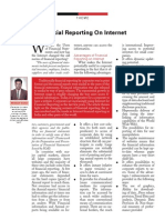 Financial Reporting on Internet - CA Journal Jan 2006