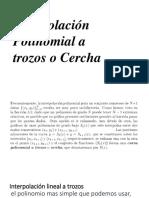 Interpolacion Polinomial a Trozos