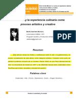 Garrido Moreno Berta - La Cocina y La Experiencia Culinaria Como Proceso Artistico y Creativo