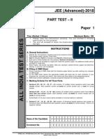 Aits 1718 Pt II Jee Adv Paper 1