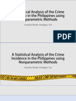 A Statistical Analysis of the Crime Incidence In The Philippines