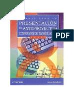 Manual Para La Presentación de Anteproyectos e Informes de Investigación