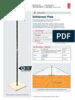 Settlement Plate SSB0010B