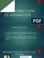 Instrucción de Asignación