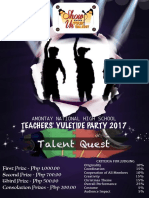 Flyer for Talent Quest