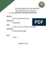 ADULTO MAYOR- Factores Protectores y Riesgo