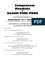 Torneo Beach Ping Pong