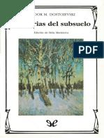 Dostoyevski, Fiodor - Memorias Del Subsuelo [29157] (r1.0)