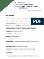 Terminación Anticipada - Solución de Conflictos o de Carga Procesal
