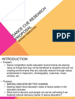Dance CUE Research Proposal