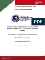 Rosales Gonzalo Elaboracion Comercializacion Licor Cacao