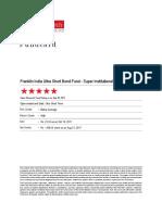 ValueResearchFundcard FranklinIndiaUltraShortBondFund SuperInstitutionalPlan DirectPlan 2017Oct11