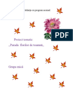 Proiect Tematicparada Florilor de Toamna