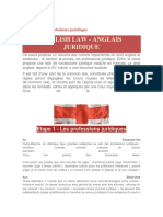 English Law-Vocabulaire Juridique