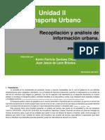Recopilación y análisis de información urbana