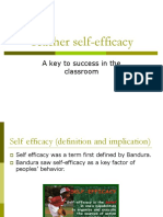 Teacher Self Efficacy