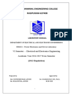 EE6611-Power Electronics and Drives Laboratory