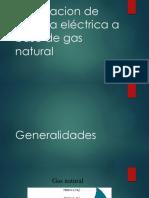 Generacion de Energía Eléctrica a Base de Gas