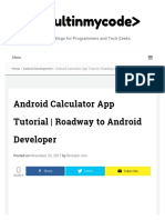 Android Calculator App Tutorial _ Roadway to Android Developer Coruse