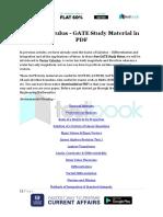 Vector Calculus GATE Study Material in PDF