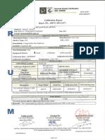 GaScope Calibration Certificate