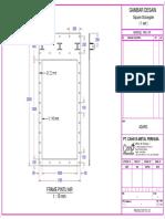 Gambar Desain Square Sluice Gate