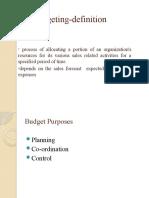 Sales Budgeting Ppt
